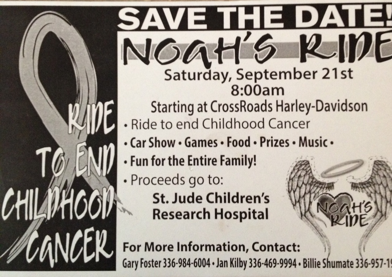 Noah's Ride - Ride to Cure Childhood Cancer