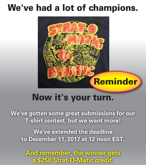 Here's your chance to showyour skills and help us designnext year's tee shirt! Reminder!