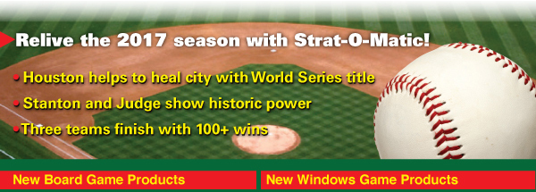 New Strat O Matic Baseball Products Now Available For Pre Order