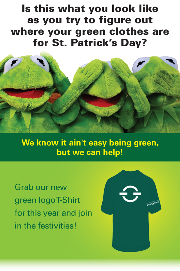 Grab our new green logo T-Shirt for this year and join in the festivities!