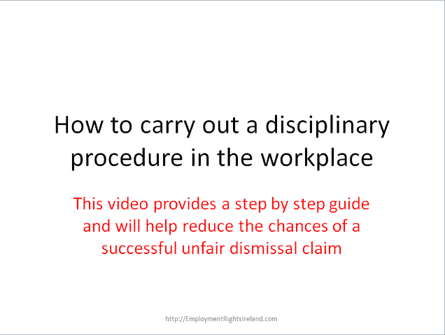 A step by step disciplinary procedure from verbal warning to a step by step disciplinary procedure from verbal warning to dismissal employment rights ireland spiritdancerdesigns Gallery