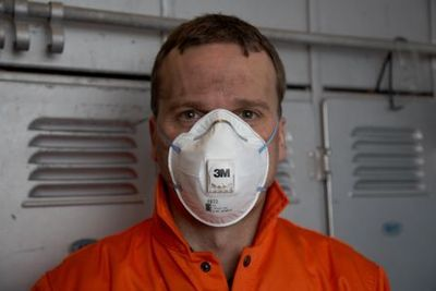 Respiratory protection against exposure to diesel particulate