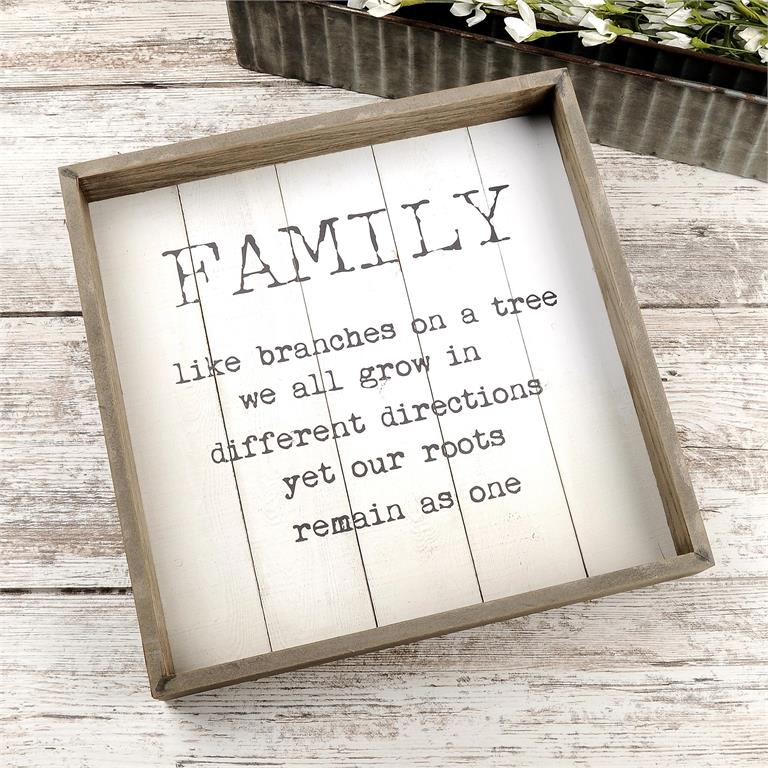 """""""FAMILY…BRANCHES ON A TREE"""" FRAMED SIGN"""