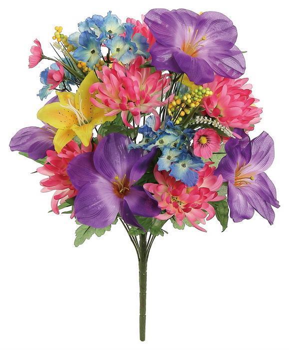 Shop select artificials hydrangea lily mum bush x 20 24 spring mixed mightylinksfo