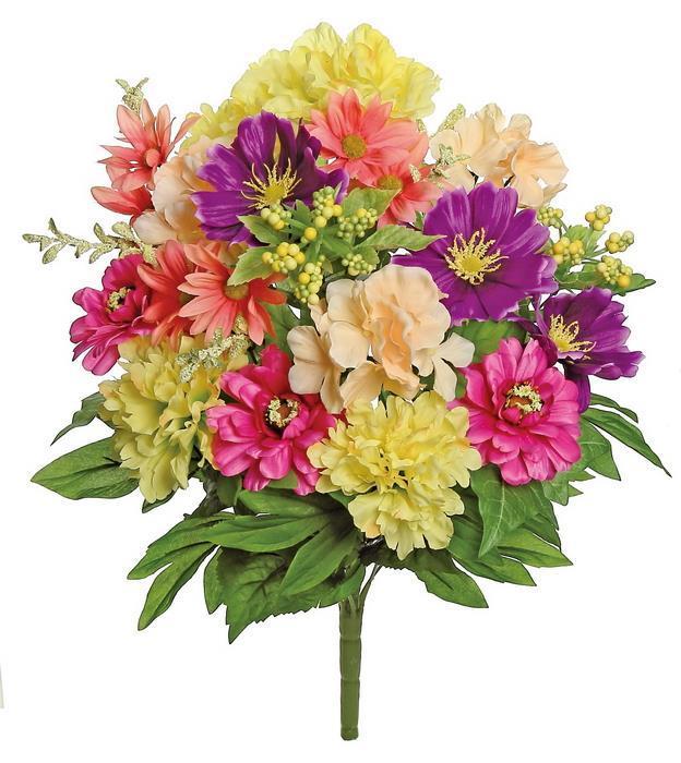 Shop select artificials peony daisy bush x18 21 spring mixed mightylinksfo