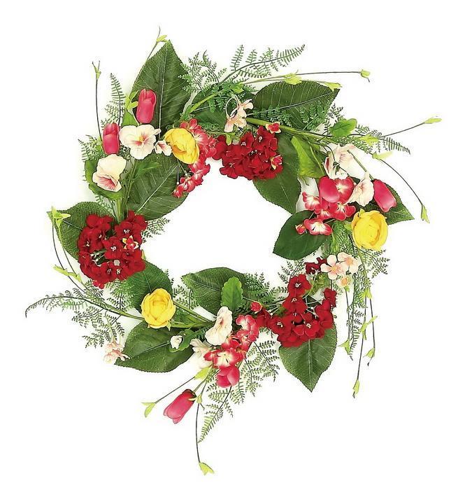 Shop select artificials geranium mixed flower wreath 24 spring mixed mightylinksfo