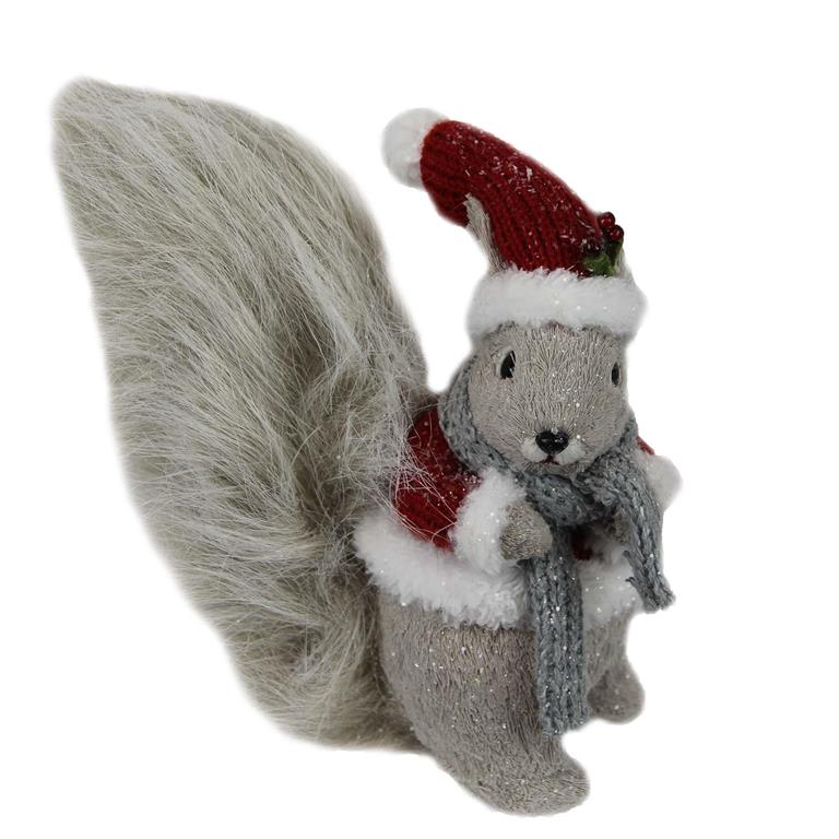 Christmas Squirrel.Christmas Squirrel Gray And Red 8 X4 X8