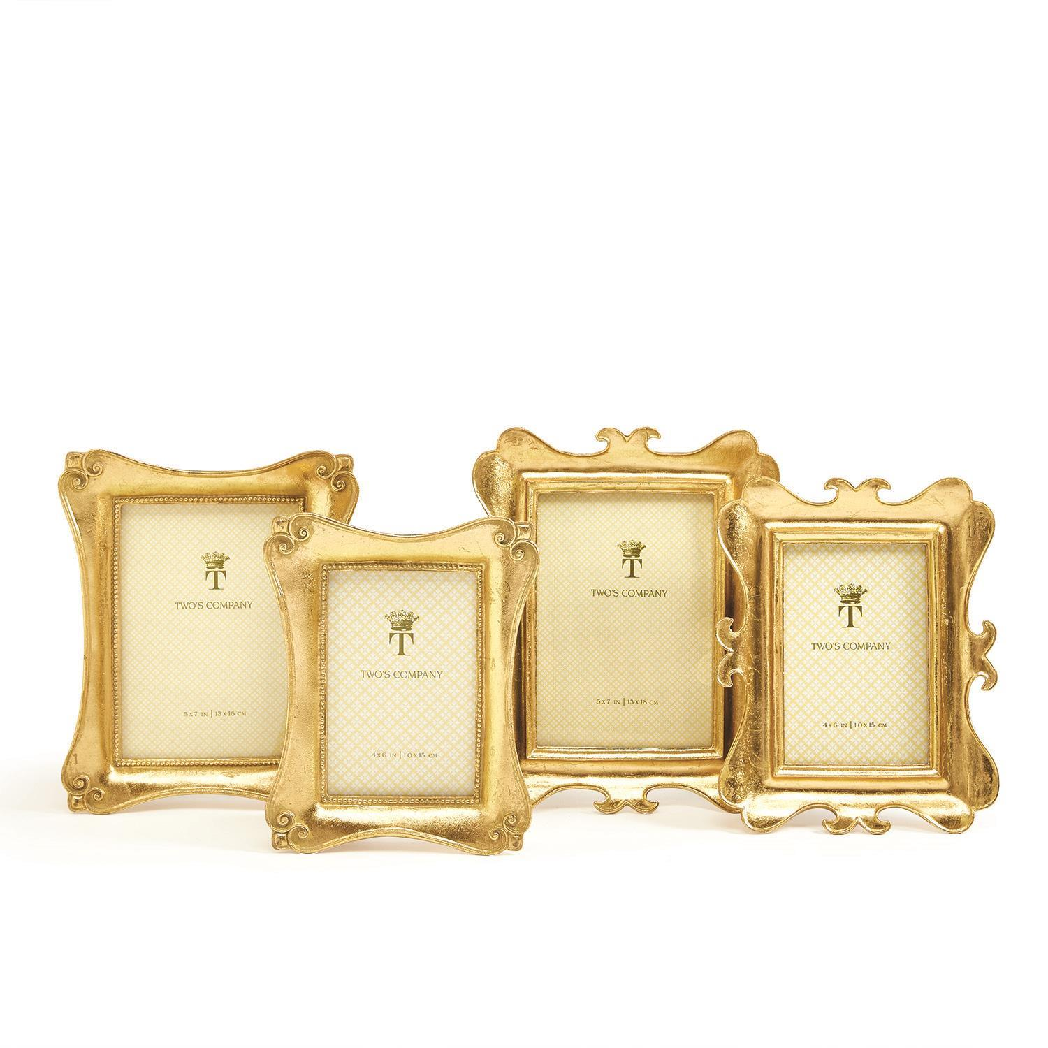 ac4b36844ad9 S 2 Gold Leaf Frames Includes 2 Sizes and Styles
