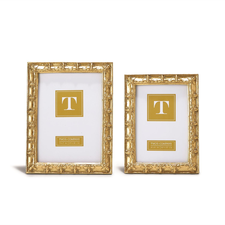 4e59204513e5 Set of 2 Golden Bee Photo Frames 4x6 and 5x7