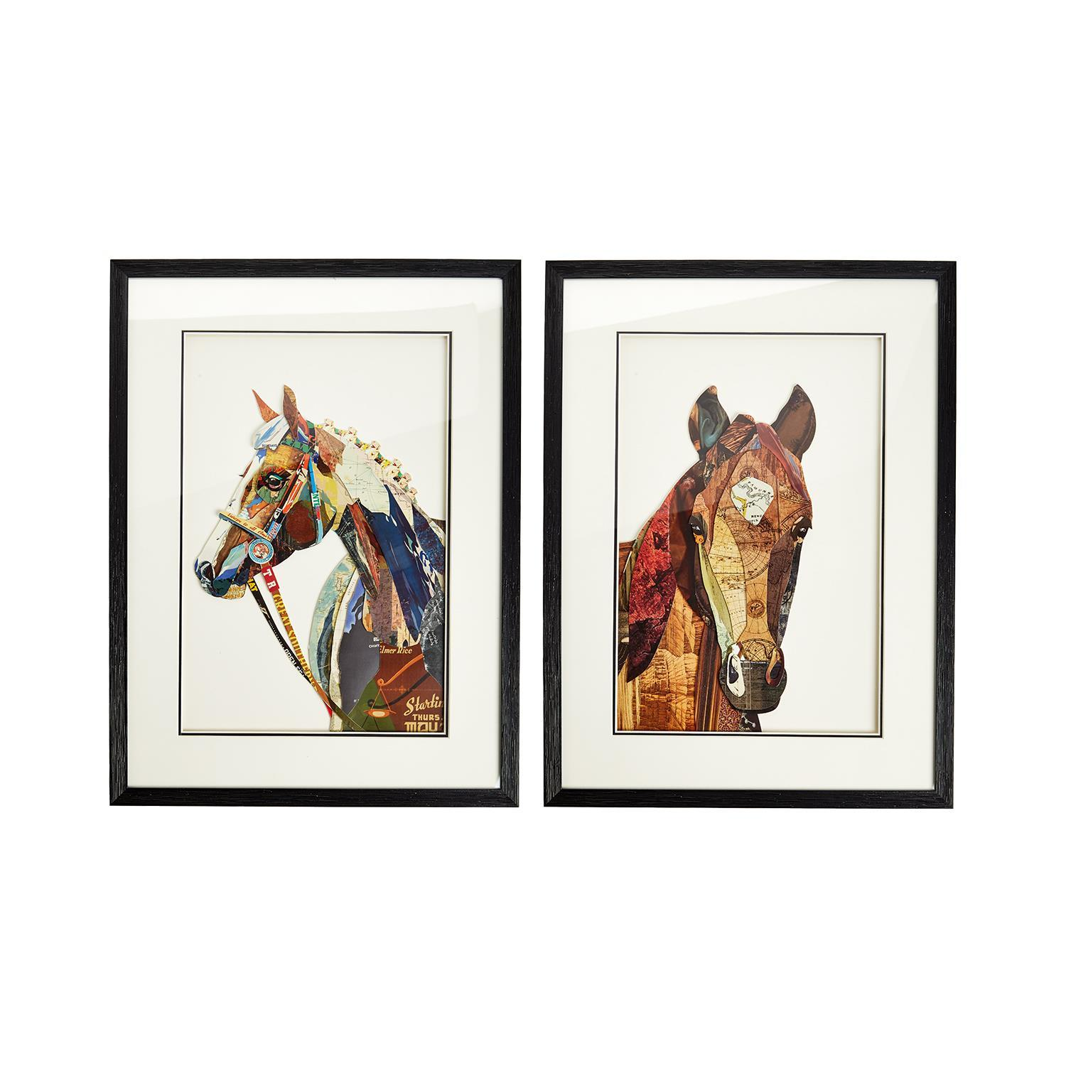 Horse Collage Wall Art Asst 2 Designs