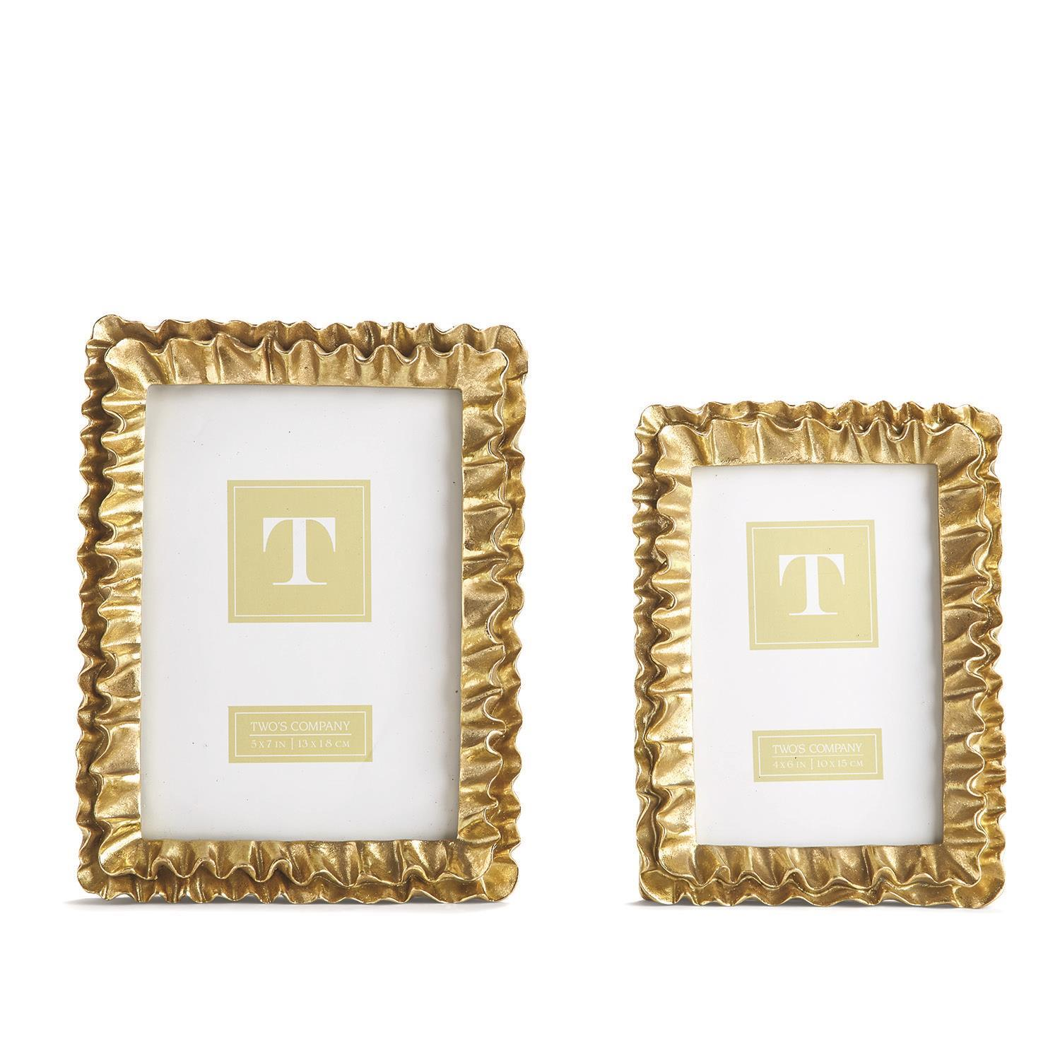 30cda7d8460d S 2 Gold Ruffles Frames Includes 2 Sizes. COLLECTION