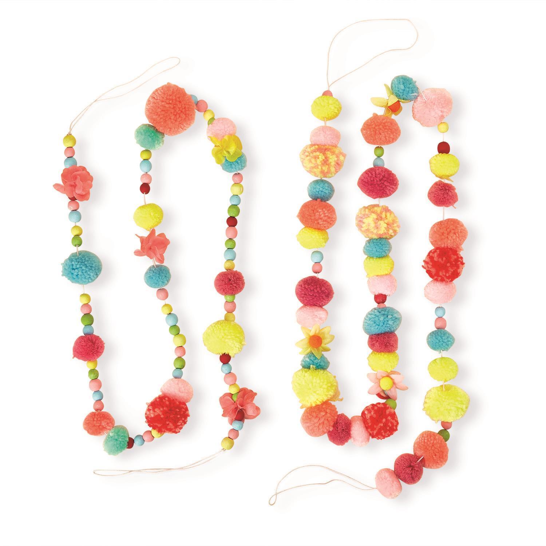 Multicolor Pom Pom Garland Asst 2 Designs