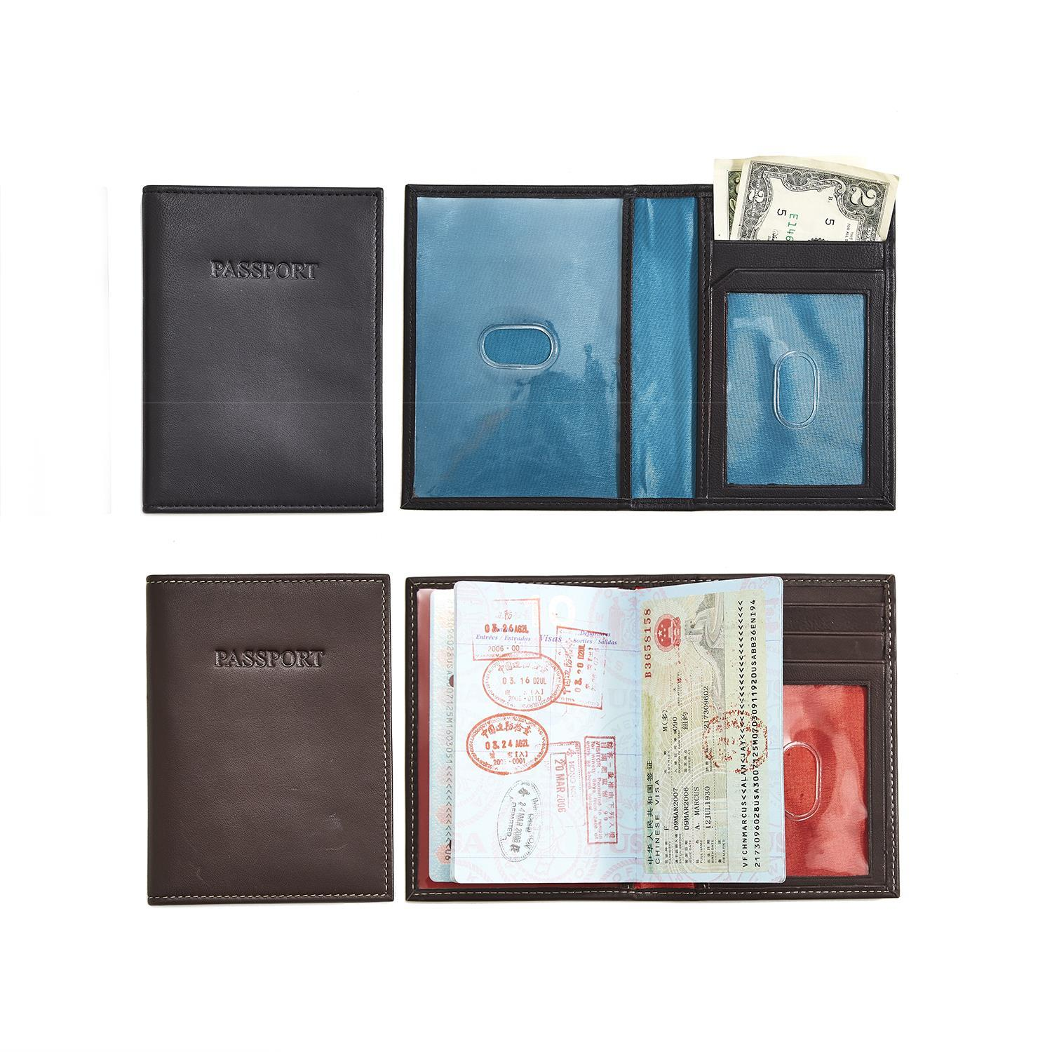 85193a3a9c86 Leather Passport Holder in Gift Box Asst 2 Colors
