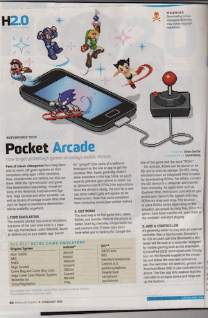 Emuparadise mentioned in popular science magazine!