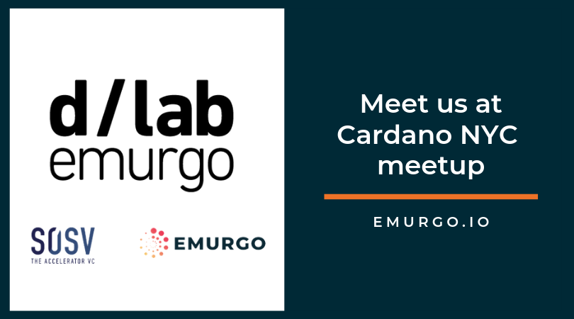Cardano partner, EMURGO, and SOSV Launch dLabs; Meet the Teams at Cardano NYC meetup