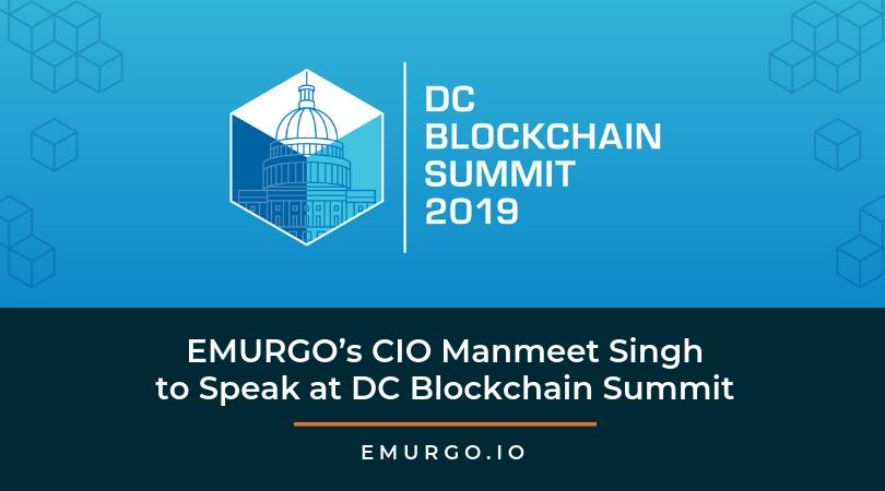 DCブロックチェーンサミット(ワシントンDC)にて、 EMURGO CIOマンミート・シン氏の登壇が決定!