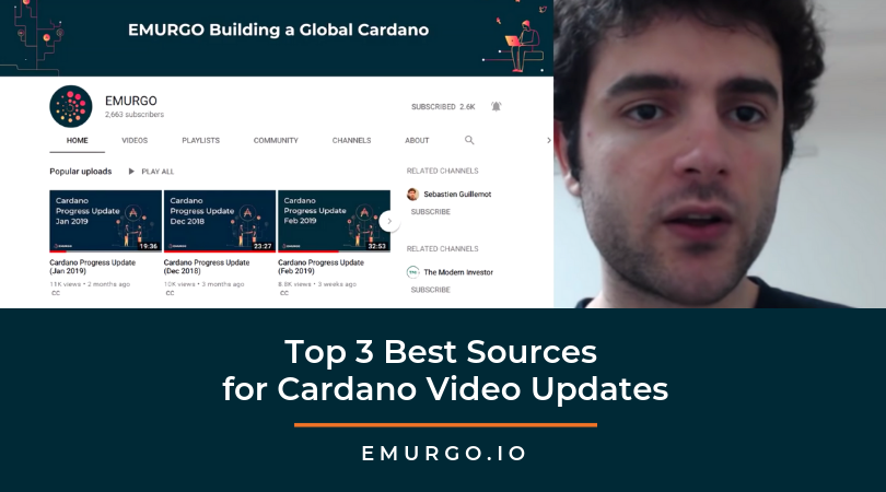 The Cardano Roadmap Has Changed! Top 3 Best Sources for Cardano Progress Updates by EMURGO's R&D Engineering Lead Sebastien Guillemot