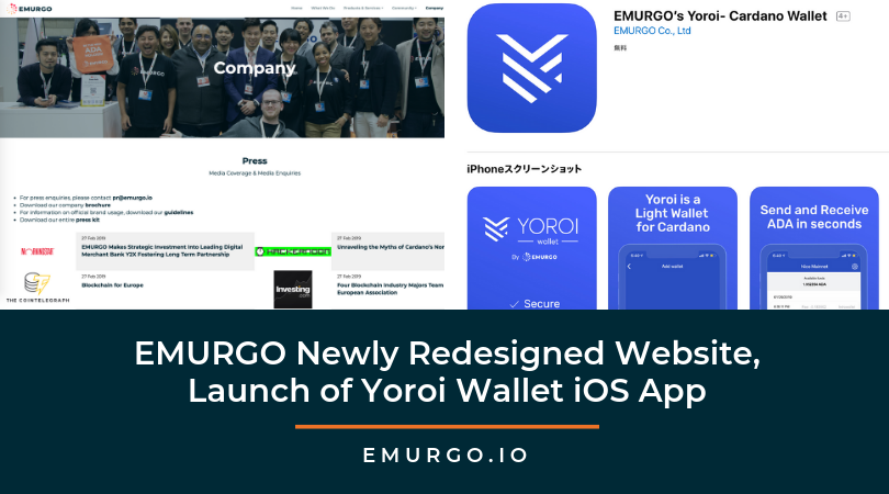 Taking a Closer Look at EMURGO's Newly Redesigned Website! Plus, More News about the Yoroi Wallet iOS App!