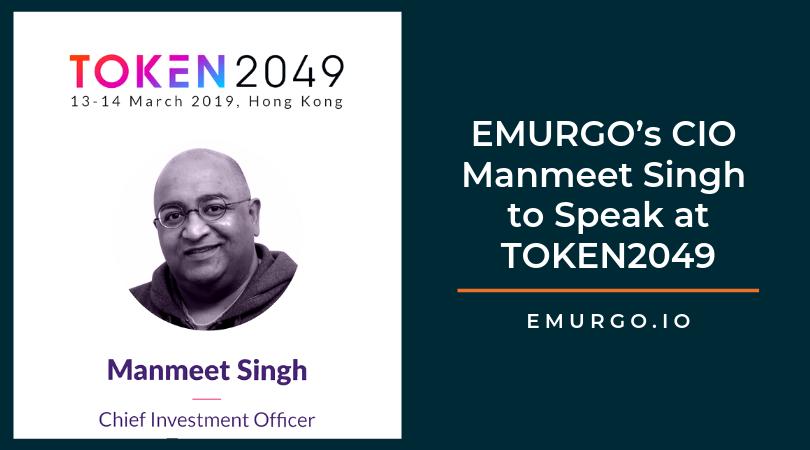 EMURGOのCIO であるマンミート・シンが香港で開催予定の「TOKEN2049」ブロックチェーンカンファレンスで講演