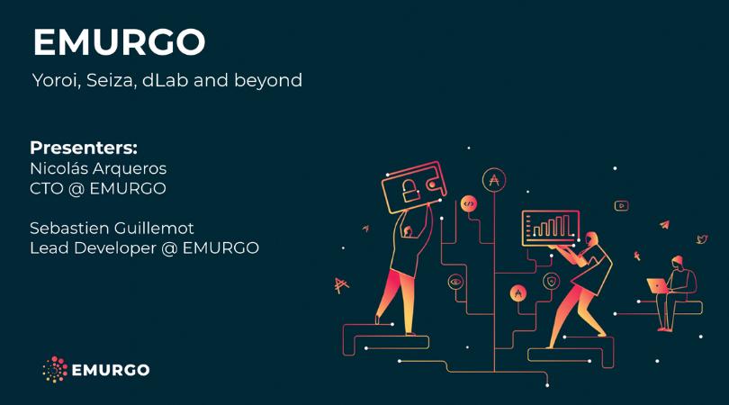 IOHKサミット2019でのEMURGOのプレゼンテーションスライド:ヨロイ、セイザ、dLabなど