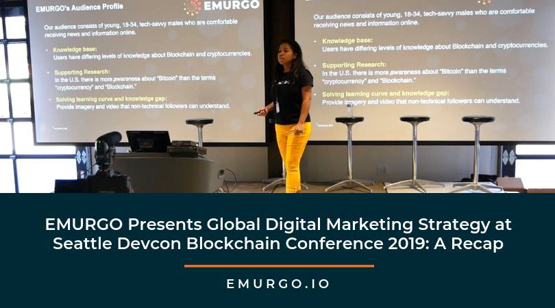 EMURGO's Global Digital Media Manager Keisha DePaz Presents Digital Marketing Strategy At Seattle Devcon Blockchain Conference 2019: A Recap
