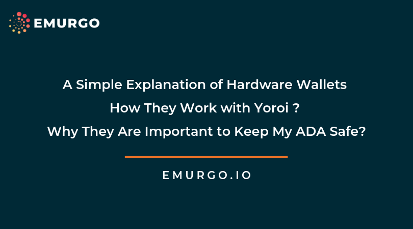 A Simple Explanation of Hardware Wallets, How They Work with Yoroi, and Why They Are Important to Keep My ADA Safe