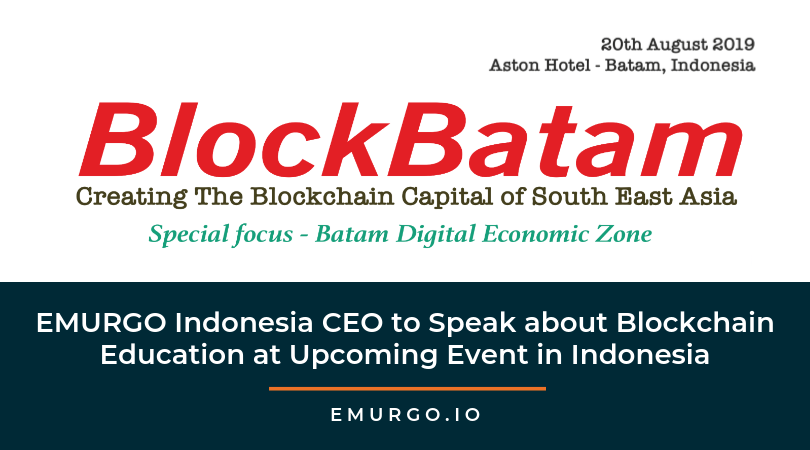 EMURGO Indonesia CEO Shunsuke Murasaki to Speak about Blockchain Education at Upcoming Event in Indonesia
