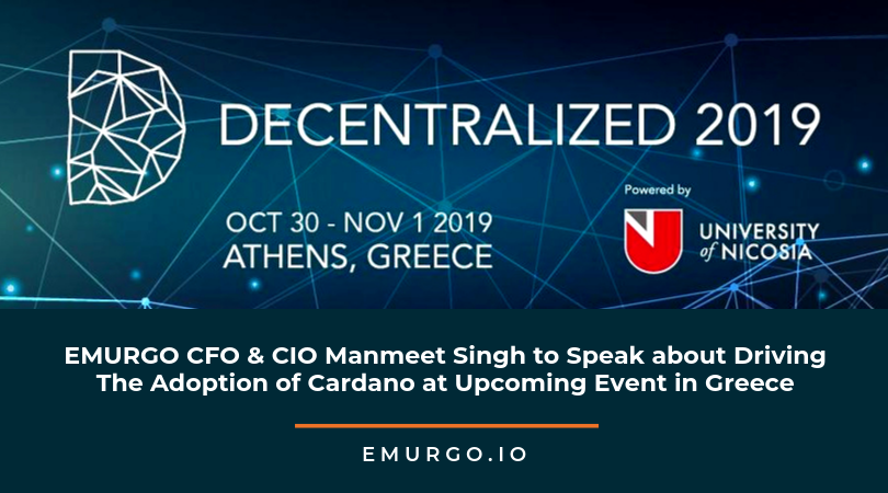 EMURGO CFO & CIO Manmeet Singh to Speak about Strategies To Drive Blockchain Adoption at Upcoming Conference in Greece