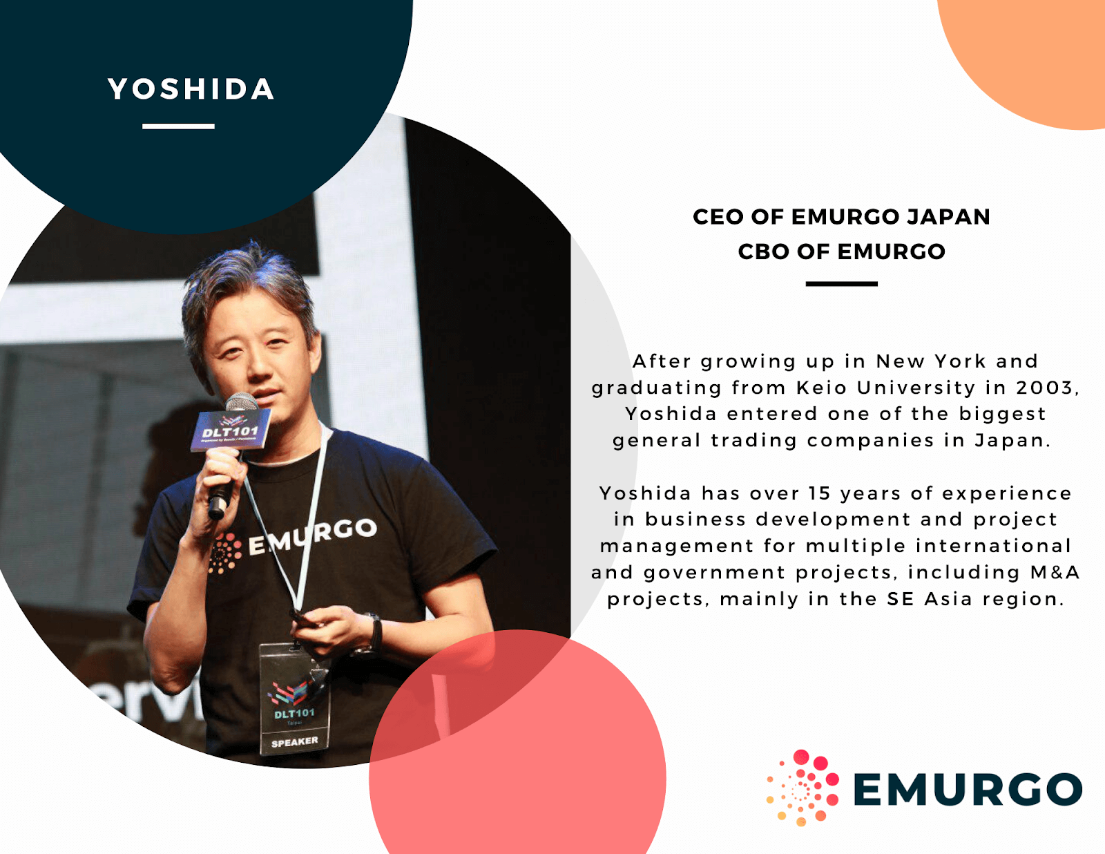 Meet Yoshida, Building a Global Cardano as Chief Executive Officer EMURGO Japan & Chief Business Officer EMURGO Group