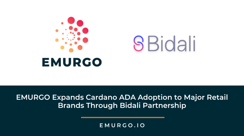 EMURGO Expands Cardano ADA Adoption to Major Retail Brands Through Bidali Partnership