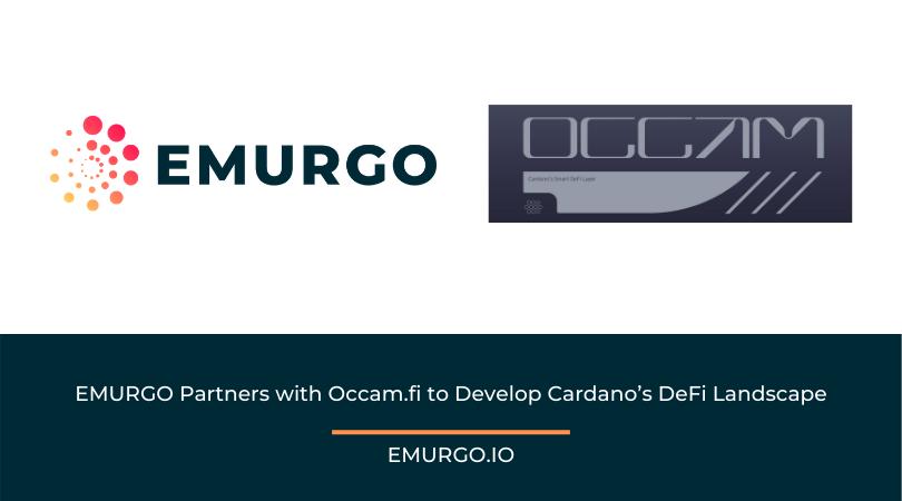 EMURGO Partners with Occam.fi to Develop Cardano's DeFi Landscape