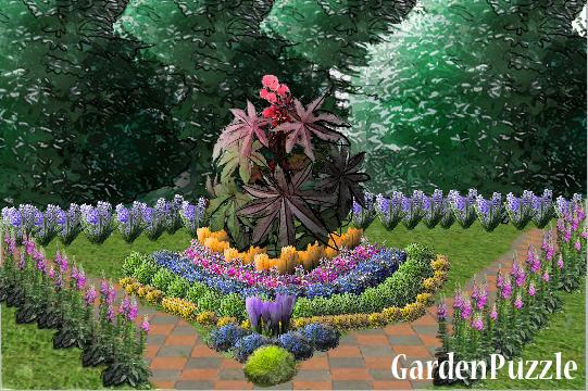 GardenPuzzle project small english garden