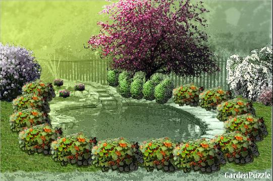 gardenpuzzle project giardino con laghetto