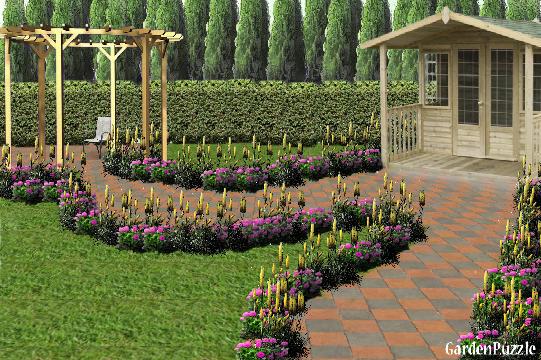 Gardenpuzzle project miss zinnia 39 s house for Garden pavilion crossword clue