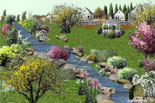 Gardenpuzzle project seoska idila for Garden pavilion crossword clue