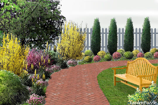 Modren Corner Garden Design Home Decorating Ideas N In