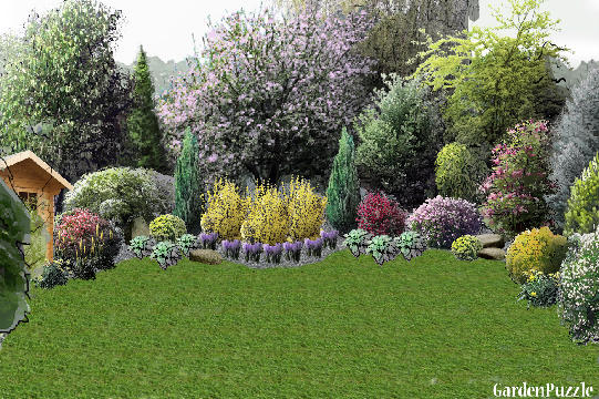 Gardenpuzzle project different backyard design for Mg garden designs