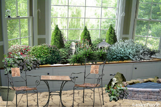 GardenPuzzle project Indoor Window Shrub Garden