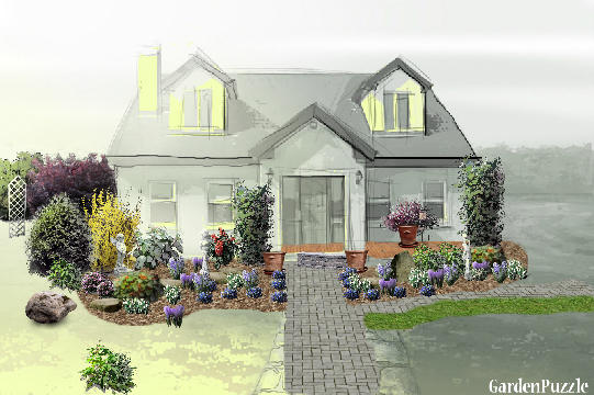 GardenPuzzle project Front of House – Garden Plans For Front Of House