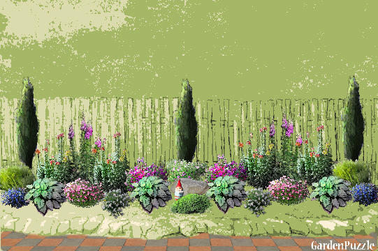 Gardenpuzzle project side yard by gate door for Mg garden designs