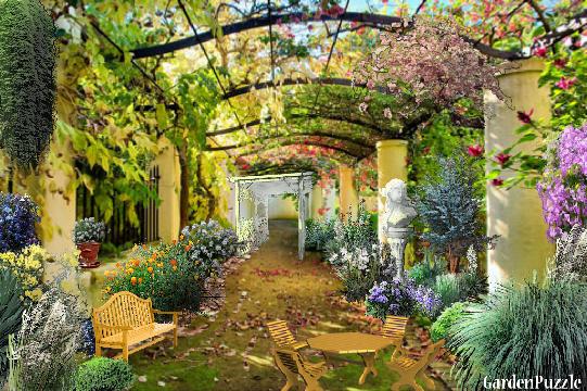 Gardenpuzzle project italian courtyard for Italian patio design