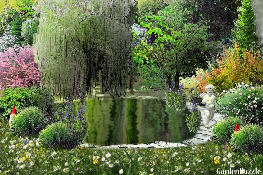 Gardenpuzzle project pond for Garden pool crossword