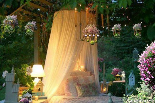 Outdoor Garden Bedroom. GardenPuzzle   project Outdoor Garden Bedroom