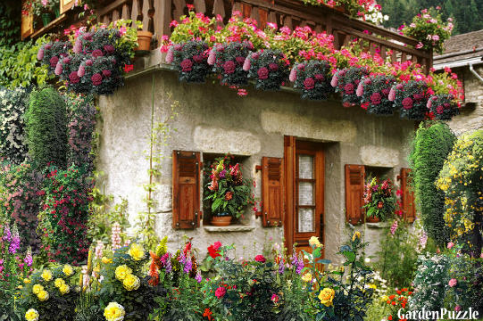 GardenPuzzle project Small house in flowers