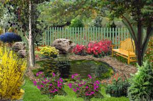 Gardenpuzzle project the old backyard fountain for Garden pool crossword