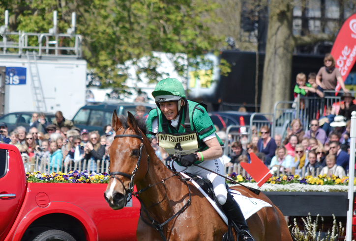 Mary King and Imperial Cavalier at Badminton in 2012. Photo by Jenni Autry.