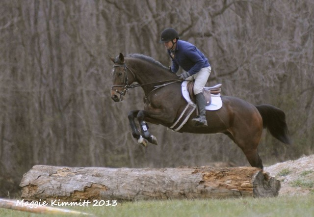 Icabad Crane schools cross country with Phillip Dutton. Photo by Maggie Kimmitt.