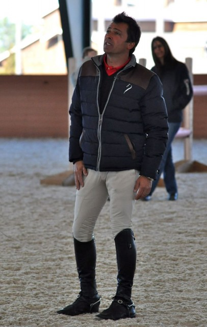 Silvio Mazzoni, new Show Jumping coach. Photo by Kate Samuels.