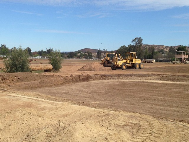 A photo of the construction  of Copper Meadow's new water complex. Photo via the Copper Meadows Facebook page.