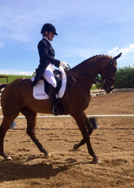 Lynn Symansky and Donner at Virginia Horse Trials. Photo via Facebook.